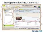 navegador educared la interfaz