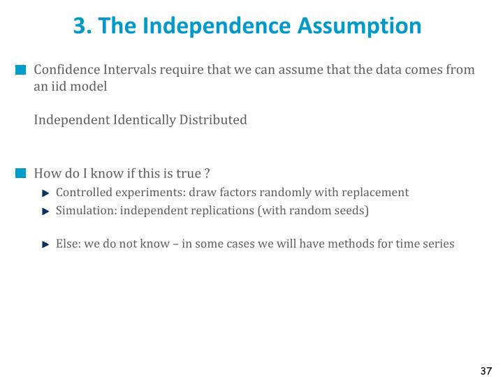 3. The Independence Assumption