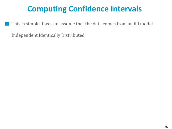 Computing Confidence Intervals