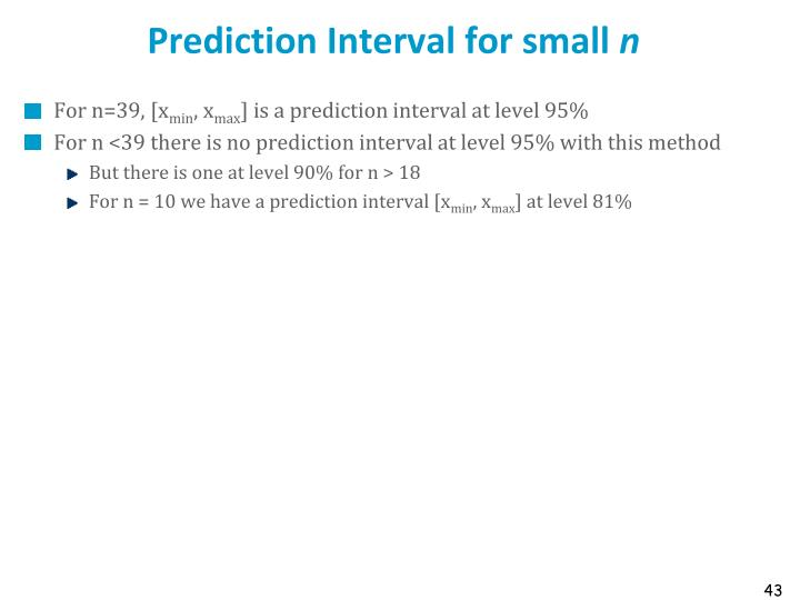 Prediction Interval for small