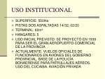 uso institucional