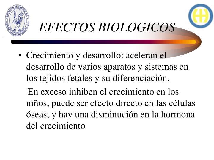 EFECTOS BIOLOGICOS