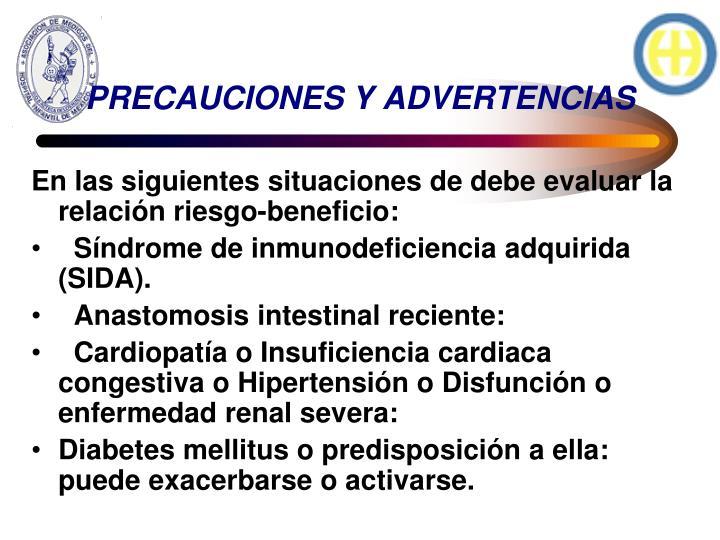 PRECAUCIONES Y ADVERTENCIAS