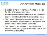 our advocacy messages