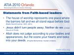 statements from faith based leaders1
