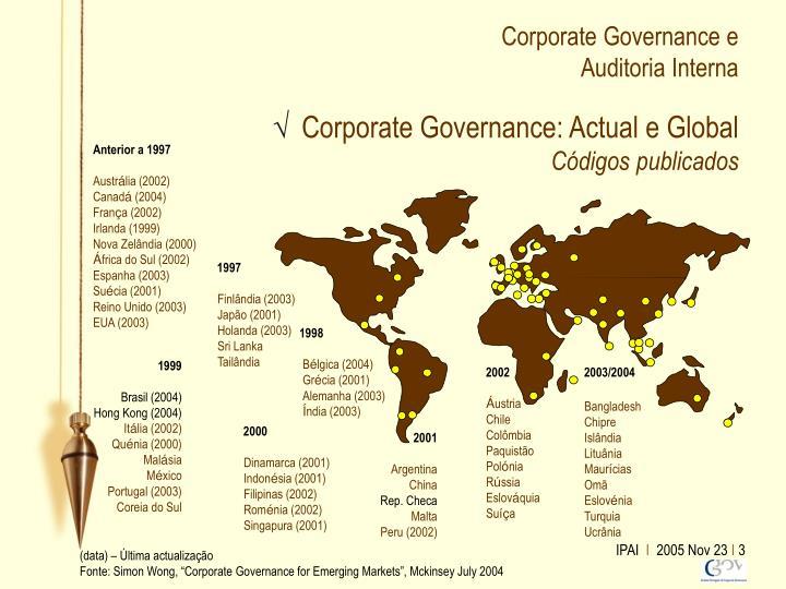 Corporate governance e auditoria interna2