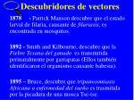 descubridores de vectores