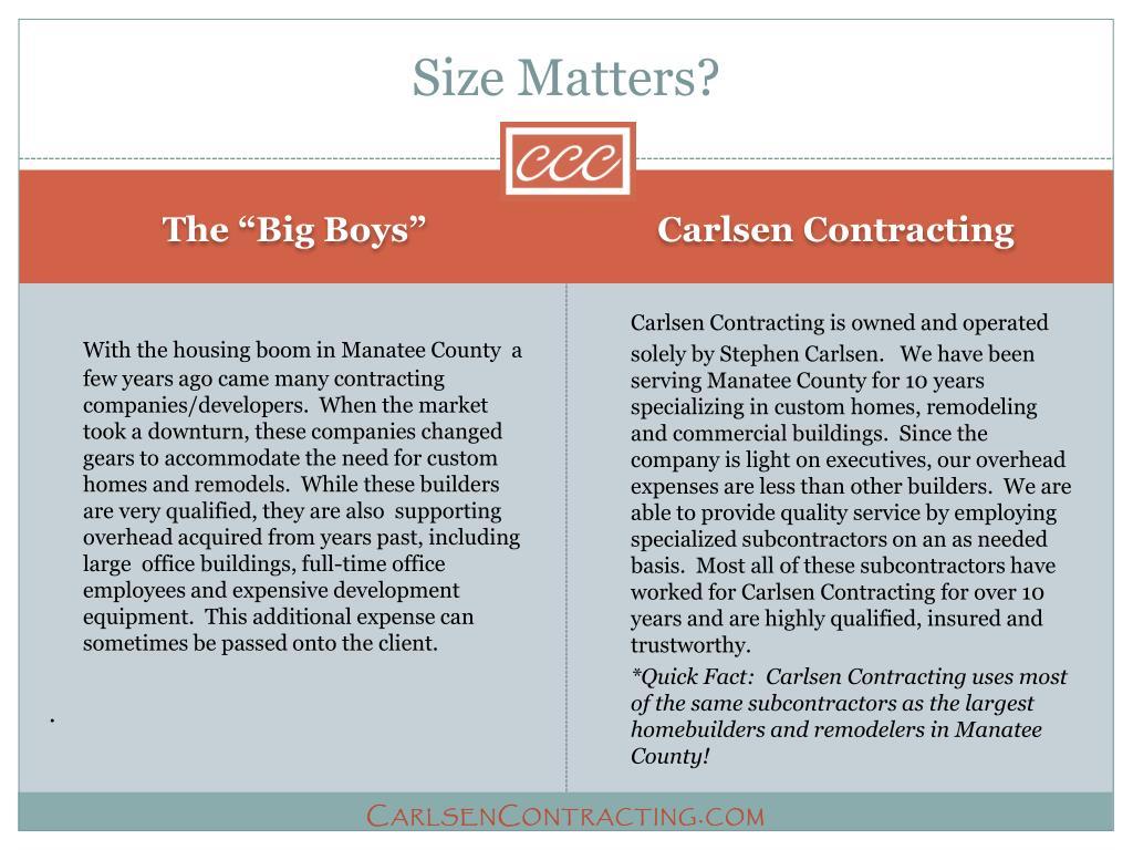 Size Matters?