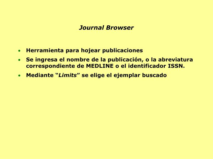 Journal Browser