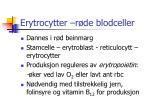 erytrocytter r de blodceller