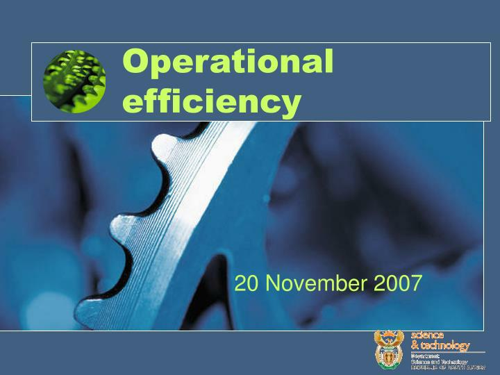 operational efficiency n.