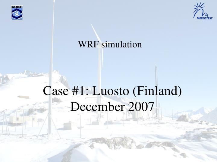 Case #1: Luosto (Finland)