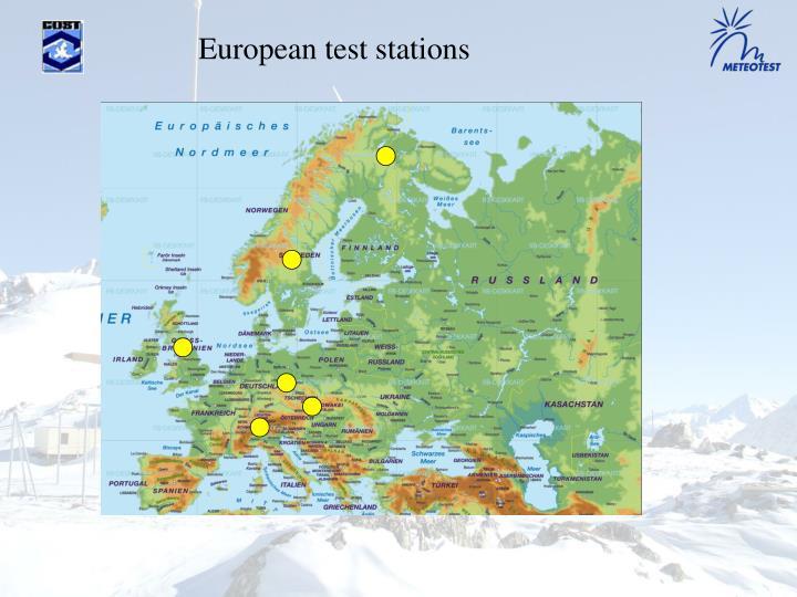 European test stations