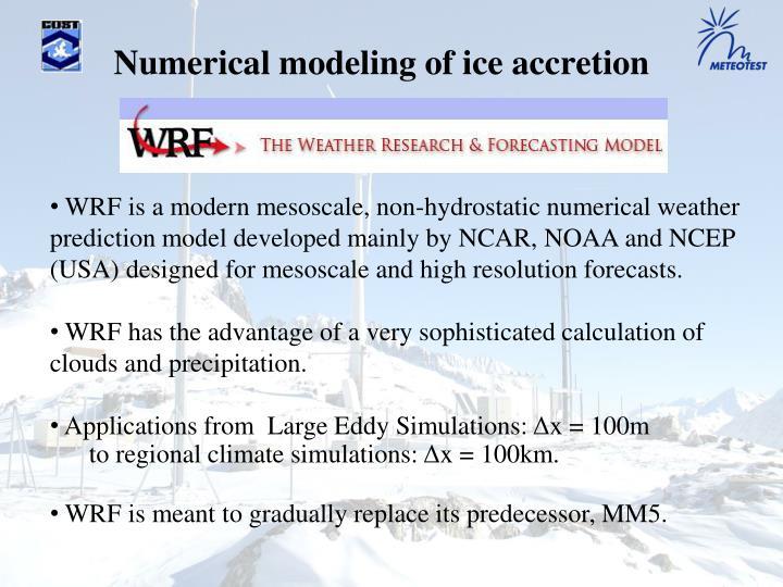 Numerical modeling of ice accretion