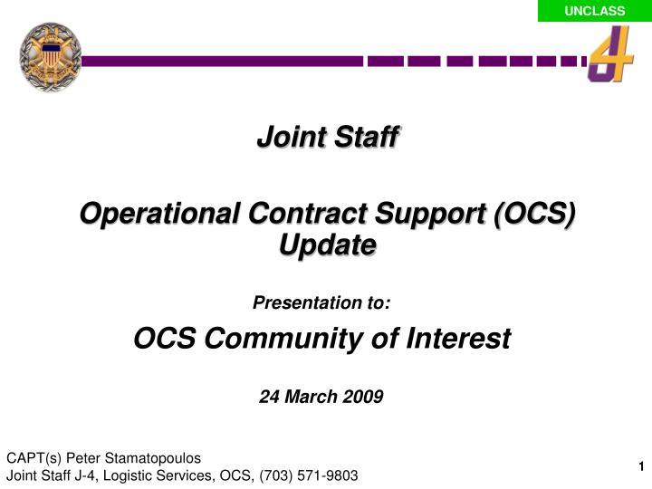 presentation to ocs community of interest 24 march 2009 n.