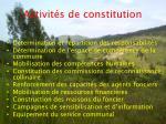 activit s de constitution