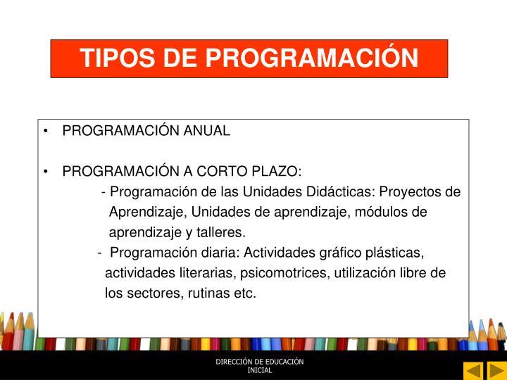 TIPOS DE PROGRAMACIÓN
