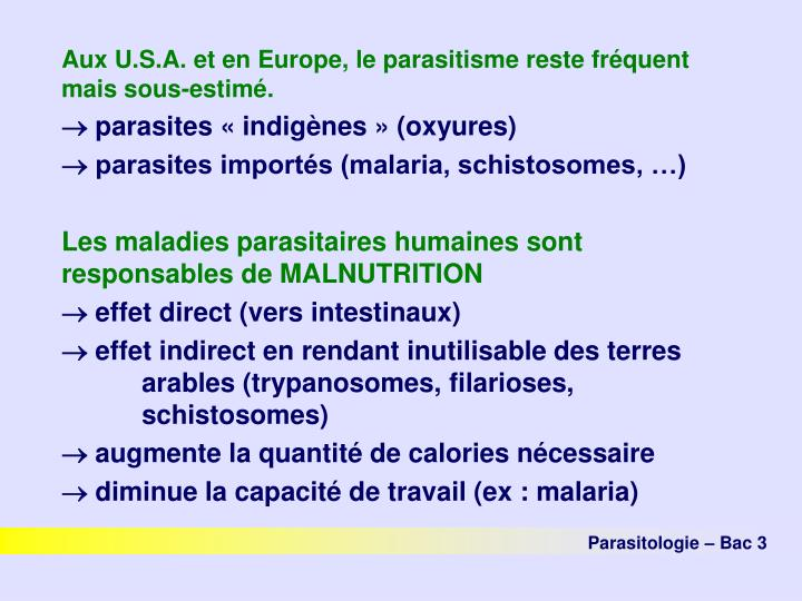 PPT - Parasitologie PowerPoint Presentation - ID:1339701