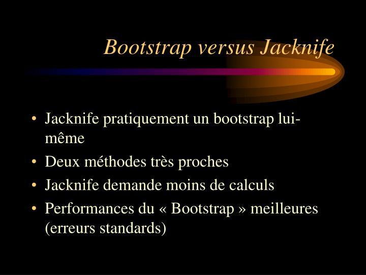 Bootstrap versus Jacknife