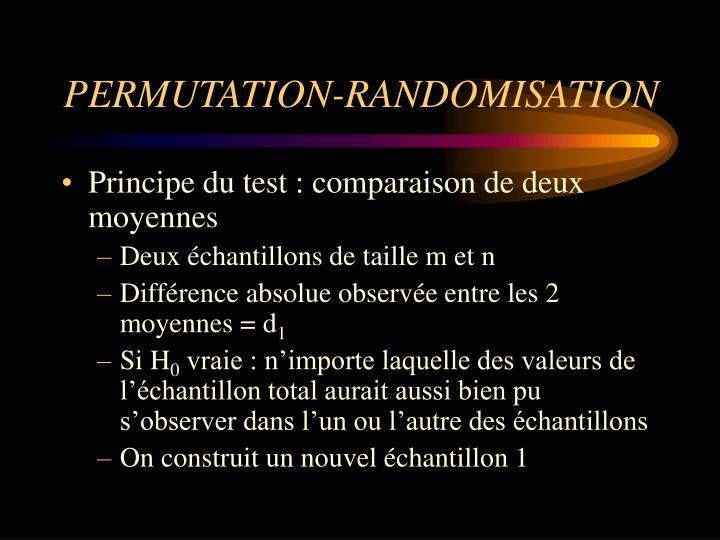 PERMUTATION-RANDOMISATION