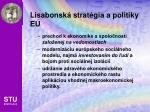 lisabonsk strat gia a politiky e