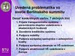 uveden problematika vo svetle berl nskeho summitu