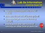 lab 8a information counting target hr