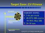 target zone cv fitness