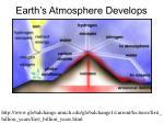 earth s atmosphere develops