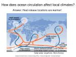 how does ocean circulation affect local climates