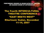 performing gender in arabic african theatre un making sense of differences1