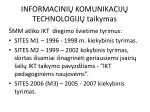 informacini komunikaci j technologij taikymas