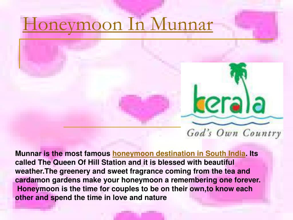 honeymoon in munnar l.