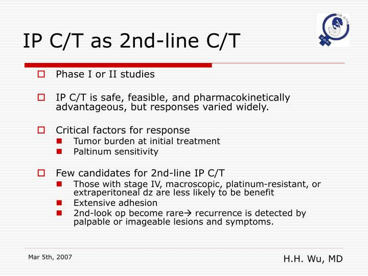 IP C/T as 2nd-line C/T