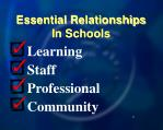 essential relationships in schools