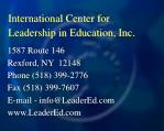 international center for leadership in education inc