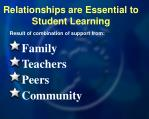 relationships are essential to student learning