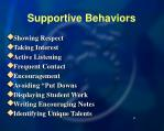 supportive behaviors