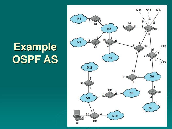 Example OSPF AS