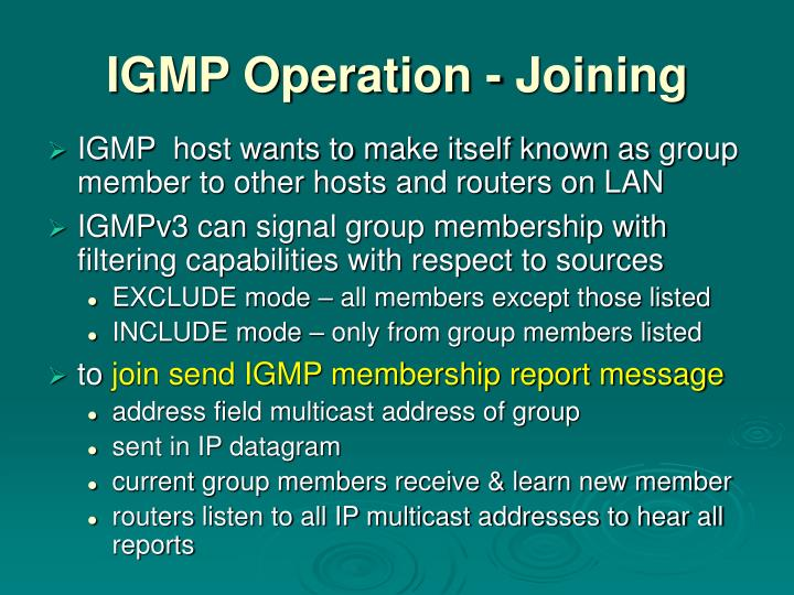 IGMP Operation - Joining