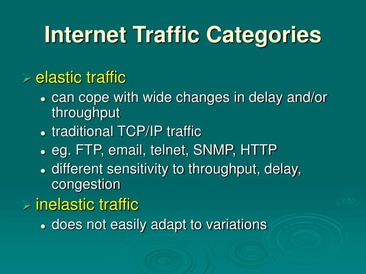 Internet Traffic Categories