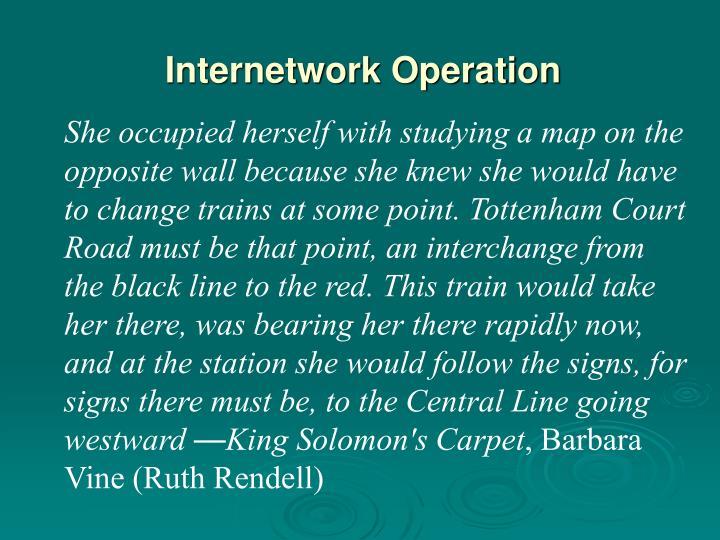 Internetwork Operation