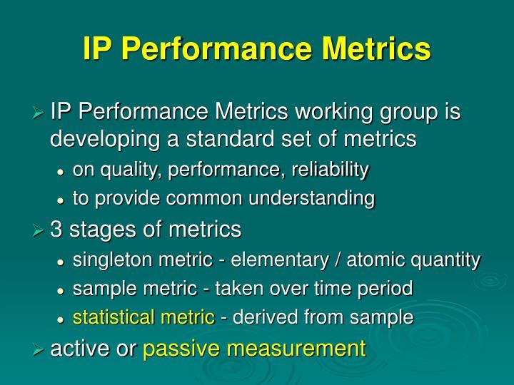 IP Performance Metrics
