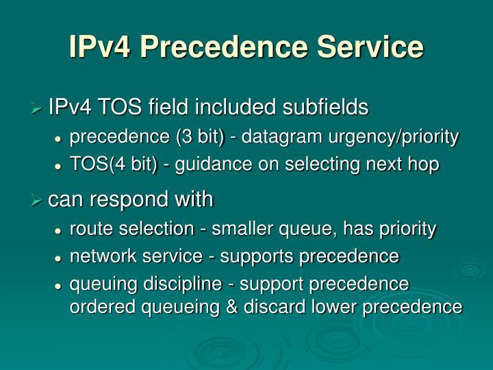 IPv4 Precedence Service