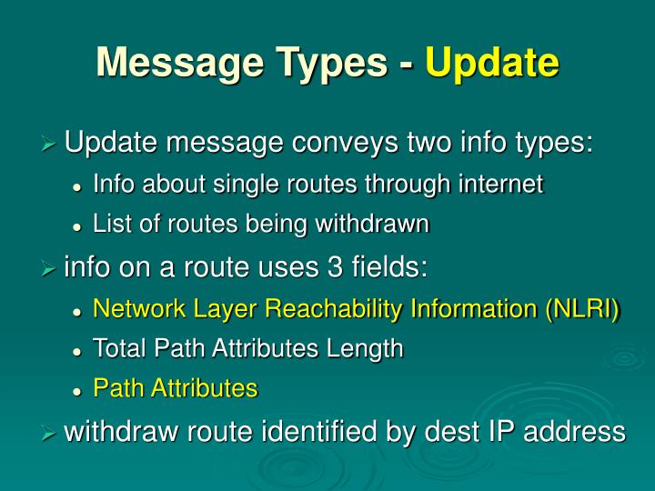 Message Types -