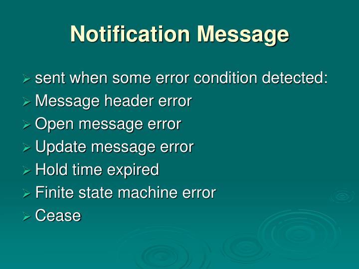 Notification Message