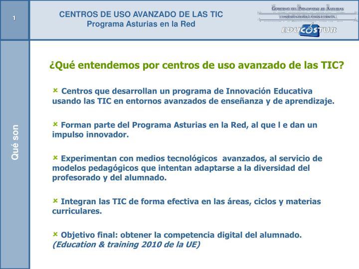 CENTROS DE USO AVANZADO DE LAS TIC
