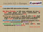 uso dello iud in europa