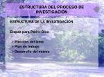 estructura del proceso de investigaci n