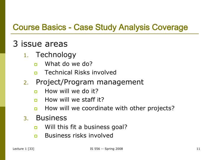 Course Basics - Case Study Analysis Coverage